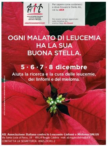 Stella Di Natale Ail 2021.Tornano Le Stelle Di Natale Ail Avvenire Di Calabria
