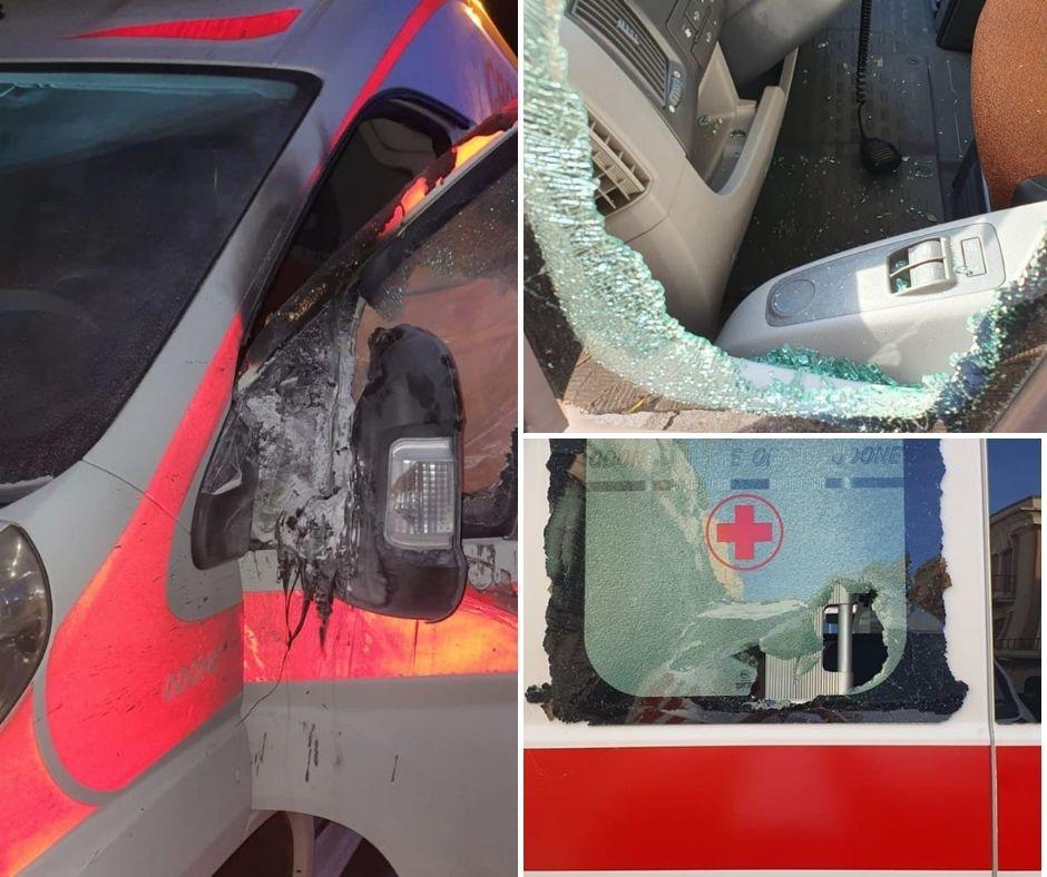 Vandalizzate le ambulanze della Croce Rossa a Reggio Calabria