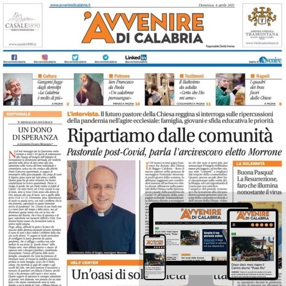 Il primo numero di Avvenire di Calabria