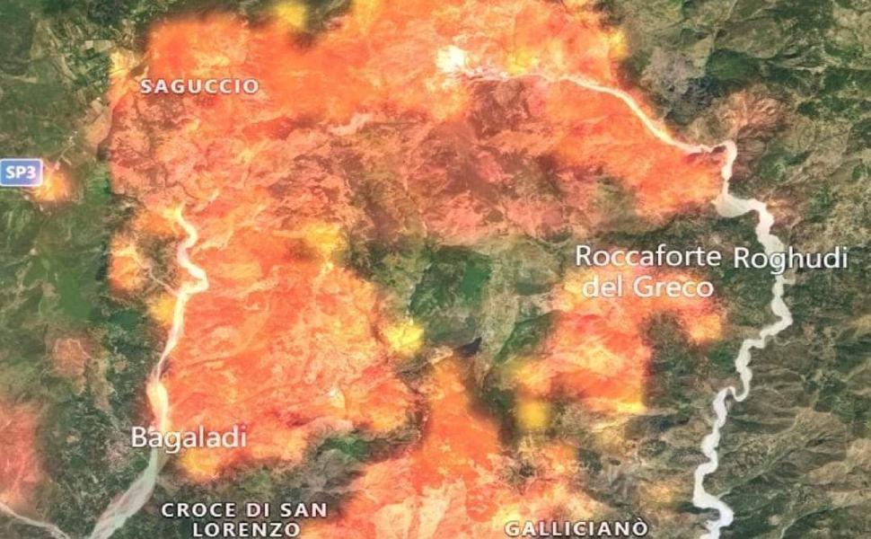 Lega esposto incendi Aspromonte
