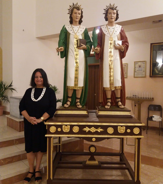 Restauro statue cosma e damiano